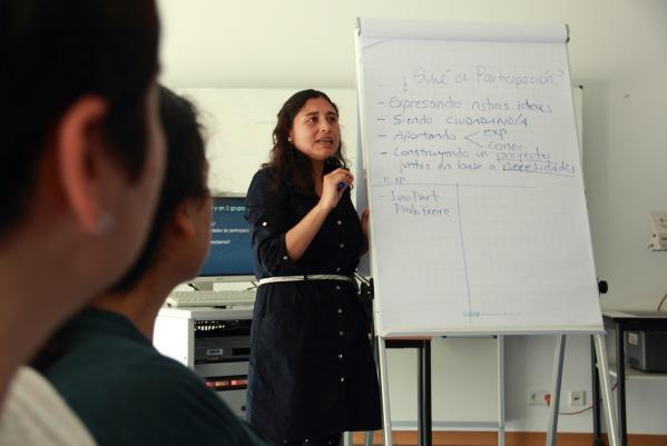Marita Orbegoso, durante su intervención