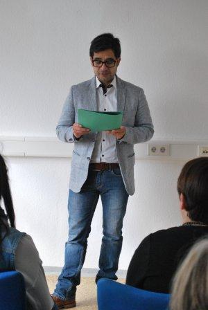 Participación de Francisco Cárdenas, representante de la Municipalidad de Marzahn-Hellersdorf, durante la inauguración.